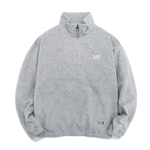 FLEECE HALF ZIP-UP GRAY