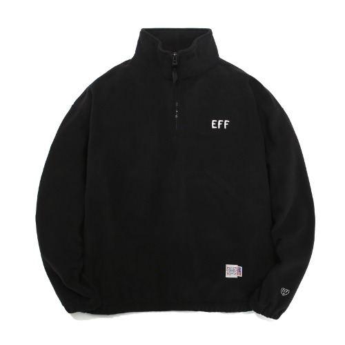 FLEECE HALF ZIP-UP BLACK